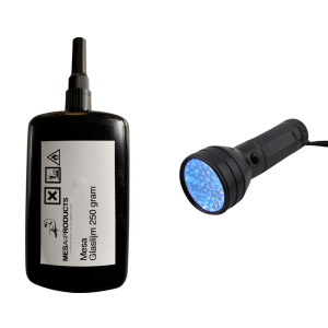 uv lamp 51 led + 250 gram glaslijm