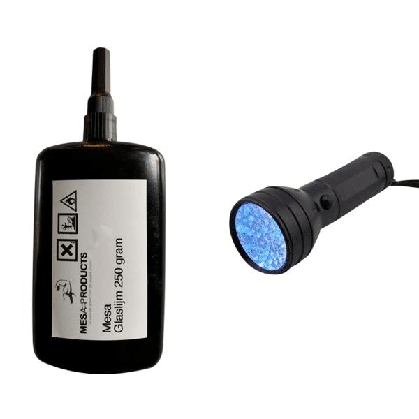uv lamp 51 led + 250 gram glaslijm
